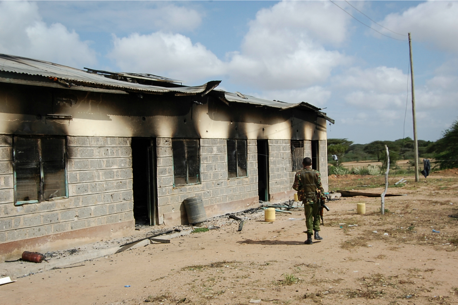 A member of Kenya's security forces.